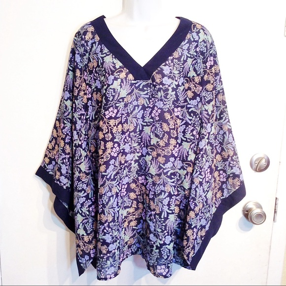 92b0f760123 Lane Bryant Tops - LANE BRYANT Plus Size Floral Kimono Sleeve Top